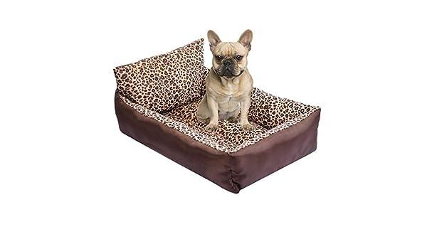 Kondrao - Cama estilo sofá con respaldo para perros ...
