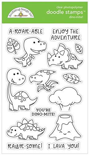 Doodlebug Clear Stamp Set - Dino-Mite!