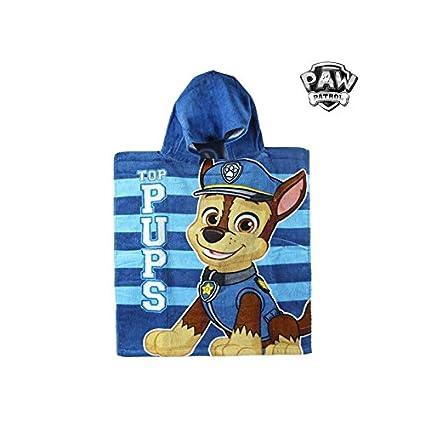 Artesanía Cerdá 2200002183 Poncho Toalla Playa de algodón 50 x 115 cm, diseño Paw Patrol
