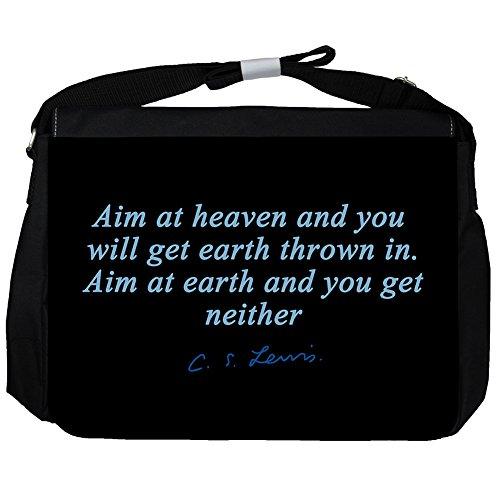 Aim at heaven - C S Lewis Unisex Umhängetasche