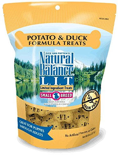 Natural Balance 723633602082 L.I.T. Limited Ingredient Treats Duck & Potato 8oz