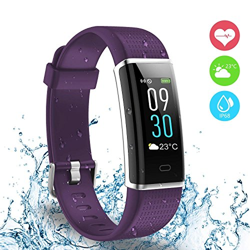 AUSUN Fitness Tracker, 130C Color Screen Activity Tracker with Heart Rate Monitor, Waterproof Smart Bracelet Pedometer Calorie Counter Sleep Monitor Step Counter for Kids Women Men