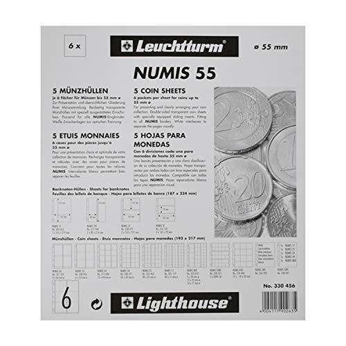 Leuchtturm 301127 5x Münzhüllen Numis 17 Zur Münz Aufbewahrung Für