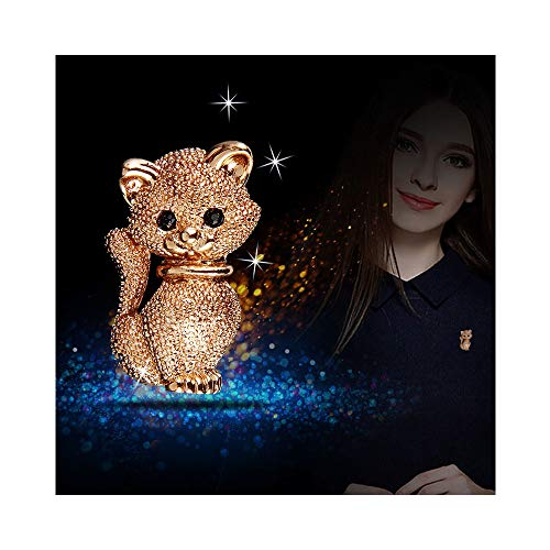 - JczR.Y Cute Shiny Crystal Funny Cat Kitty Brooch Pin for Women Fashion Clothing Bag Hat Badge Brooches Jewelry