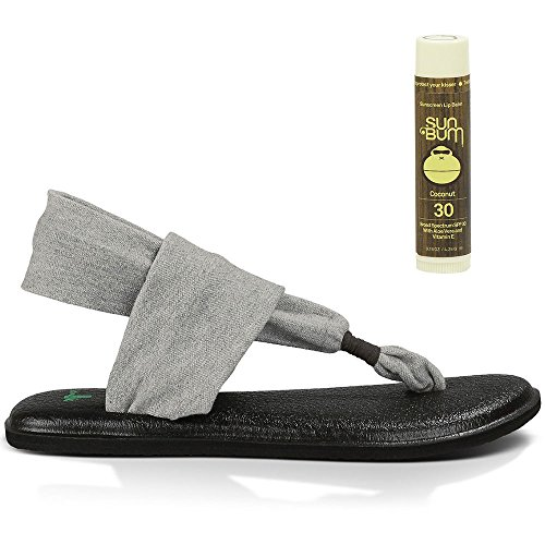 Bum with Grey Sun Coconut 2 FREE Yoga Lip Sling Sandals Balm Sanuk nw0fgOaqx