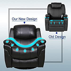 JAXPETY Electric Massage Recliner Sofa Chair Ergonomic Lounge Heated W/Control Black