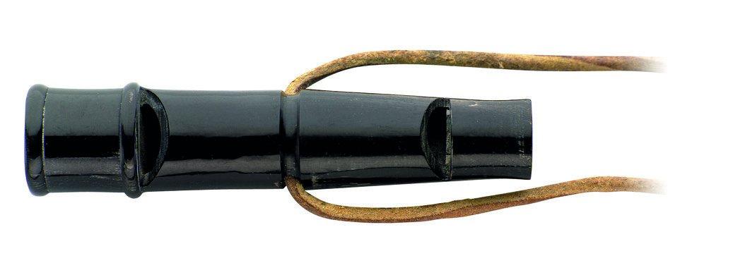 Herbertz Knife Buffalo Horn Whistle, Dog Whistle Whistle, 80mm, grau, M, 1010159810 by Herbertz