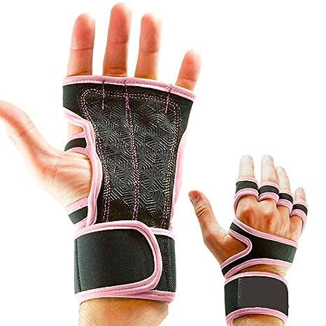 Luckyjun Professional Gym Gloves with Lengthen Wrist Belt ...