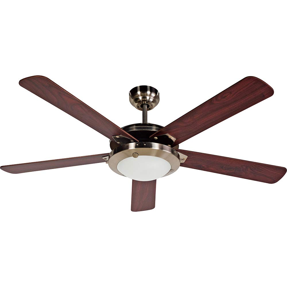 Design House 154336 Eastport 2 Light Ceiling Fan 52 , Satin Nickel