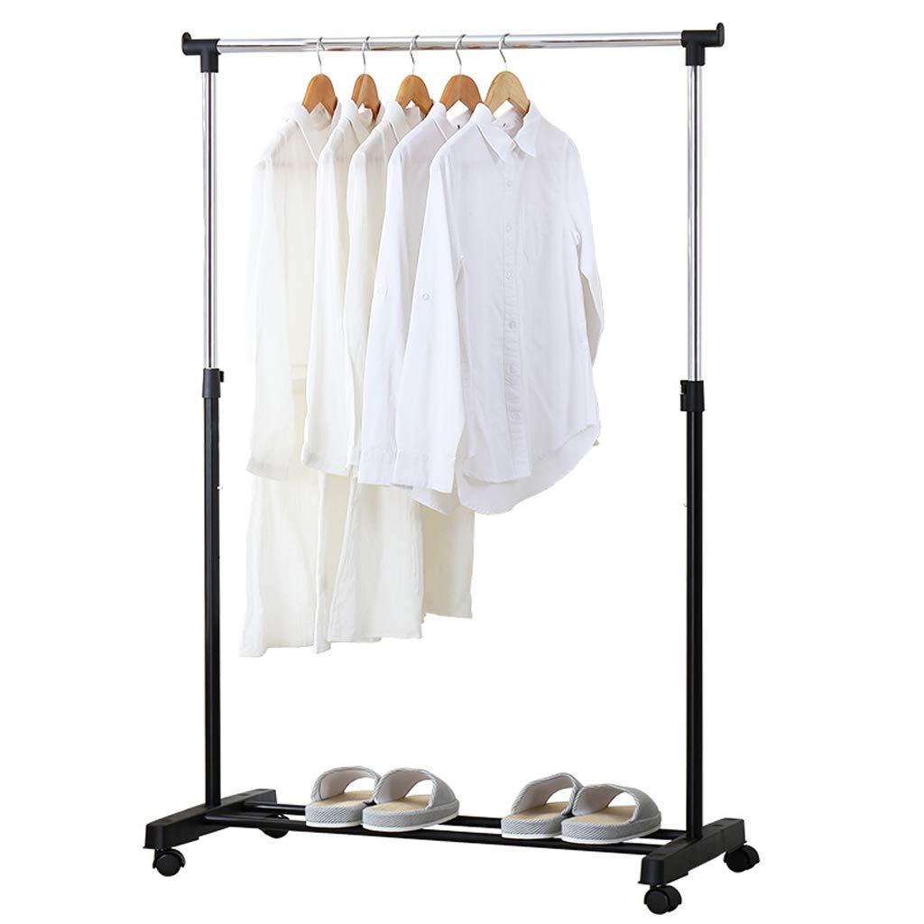 屋内折りたたみ乾燥ラック、単極格納式ユニバーサルホイールモバイル便利な乾燥ハンガー、寝室のバルコニーの服キルト乾燥に適し、90 * 155センチ B07MW59RYB