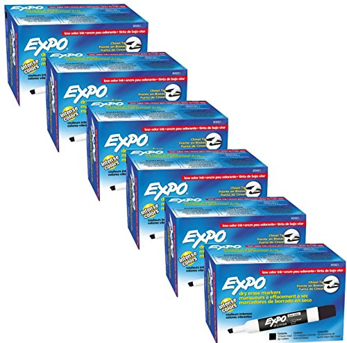 Expo Low Odor Markers Chisel 12 Pack