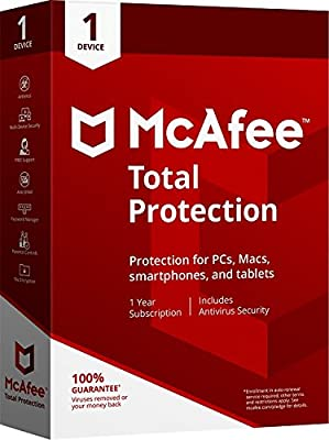 McAfee 2018 Total Protection - 1 Device