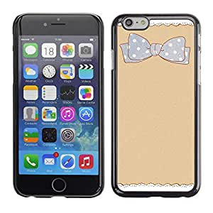 MOBMART Carcasa Funda Case Cover Armor Shell PARA Apple iPhone 6 / 6S - Cream Dotted Bow-Tie