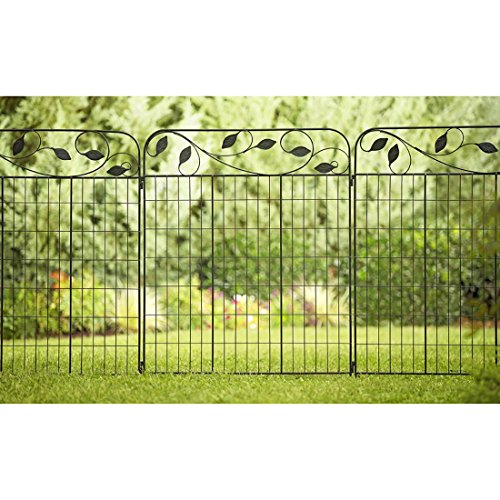 Amagabeli Decorative Garden Fence Coated Metal Outdoor
