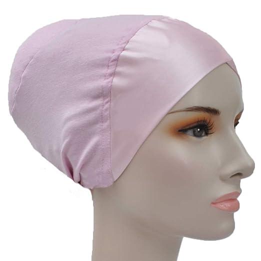 Silk Story Hijab Turban Bun Underscarf Chemo Cap Volumizer Hair Loss Cotton  Lycra Satin (Baby b3578ff1ebef