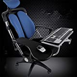 Magichold Ergonomic laptop/keyboard/mouse stand-mount for workstation/video gaming/etc (can be installed to your chair column or any round bar with max 1.96 inch diagonal thickness,