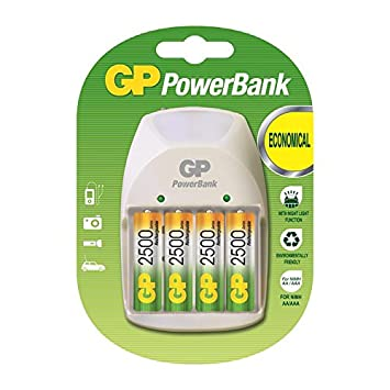 GP Batteries PB11GS250-B4 GP - Cargador con 4 Pilas ...