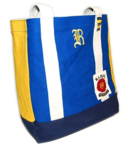 Ralph Lauren Rugby Mens Womens Vintage Canvas Carryall Tote Bag Blue Navy - Lauren Bag Yellow Ralph