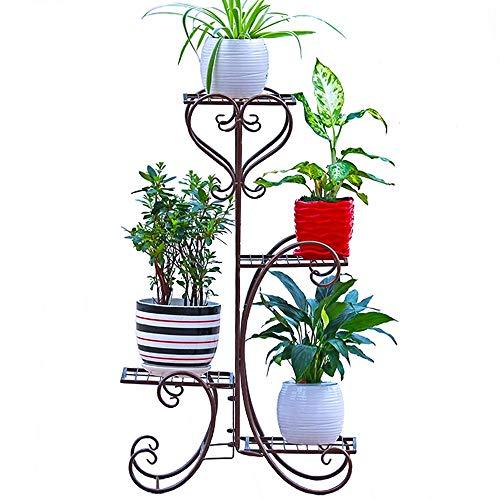 Metal Plant Stand Flower Holder Rack with 4 Tier Shelves for Garden Decor Indoor Outdoor (Bronze)