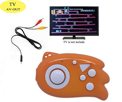 TV Game Console Player for Kids, QINGSHE 89 in 1 Super Mini Video TV Game Console Player, A Not Expensive but Interesting Gifts for Children - Orange (Orange Console)
