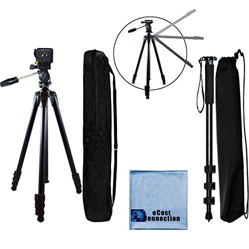 80 Inch Elite Series Professional, Full Size Camera Tripod +