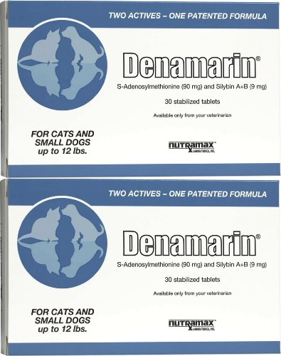 Nutramax Denamarin Tablets for Cats and Small Dogs 60ct (2 x 30ct)