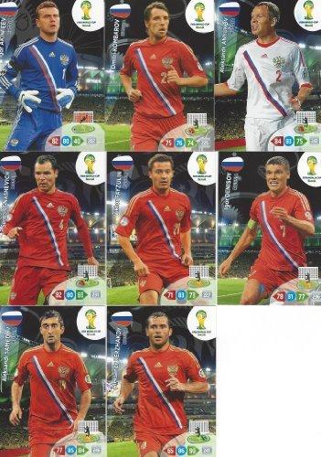 Copa Mundial de la FIFA 2014Brasil Adrenalyn XL Rusia Base Tarjeta Team Set