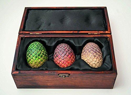 Game Of Thrones Collectibles Dragon Eggs Resin Prop Replica Box Set by Olga Ganoudis