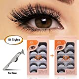01af4b11a20 6 · MAGEFY 10 Pairs Fake Eyelashes Reusable 3D Handmade False Eyelashes Set  for Natural