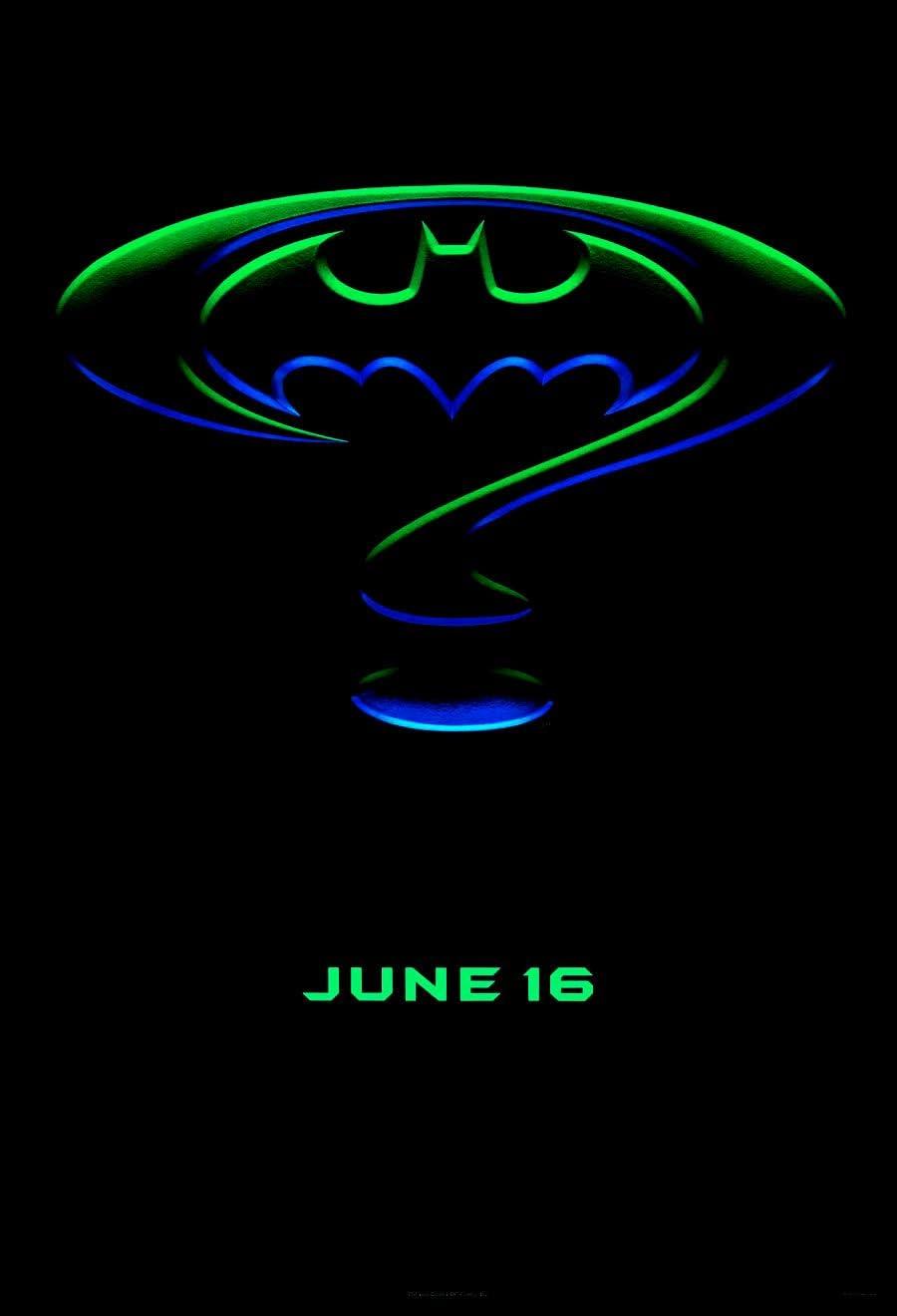 BATMAN FOREVER MOVIE POSTER 1 Sided ORIGINAL Advance ROLLED 27x40 VAL KILMER