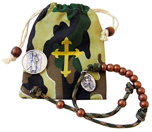 Westman Works St Michael Protector of Soldiers Military Rosary Bracelet Armed Service Catholic Gift Set