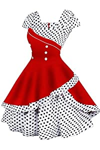 LaceLady BoatNeck Vintage Sleeveless Tea Dress with Belt Pleated Swing Party Floral37 M