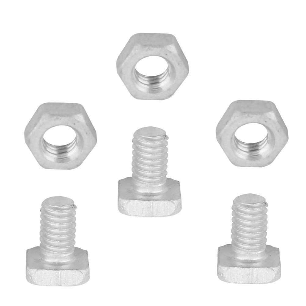 100 x Aluminium Greenhouse Square Head Bolts /& Nuts