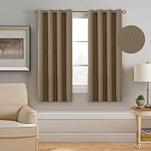 H.VERSAILTEX Classic Grommet Top Room Darkening Energy Efficient Heavy  Weight Textured Linen Curtain,Ultra Sleepu0026Warm Protecting Drapes  Panels,52x63 ...