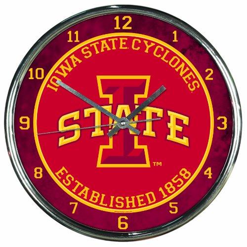 NCAA Iowa State Cyclones Chrome Clock, 12