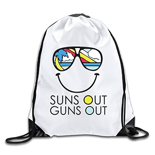 AGOGO Suns Out Guns Out Dog Drawstring Backpack (Kelty Dog Packs)