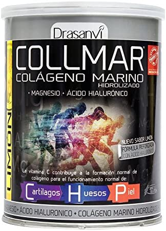 COLLMAR Colágeno Marino Hidrolizado con Magnesio, Ácido Hialurónico y Vitamina C 300 g Sabor Limón Polvo: Amazon.es: Salud y cuidado personal