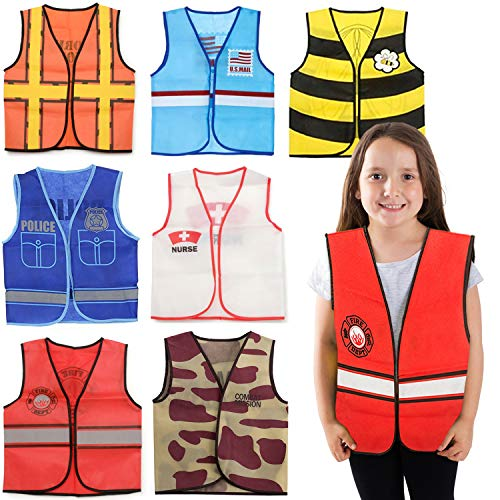 Tigerdoe Dress Up Clothes - 7 Pc - Pretend Play School Set - Career Costumes - Kids Role Play Costume - Occupation Costume (7 Pc Occupation Costumes)