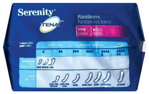 Amazon.com: TENA Serenity Pantiliners, Long, 24 Count (Pack of 2): Health & Personal Care