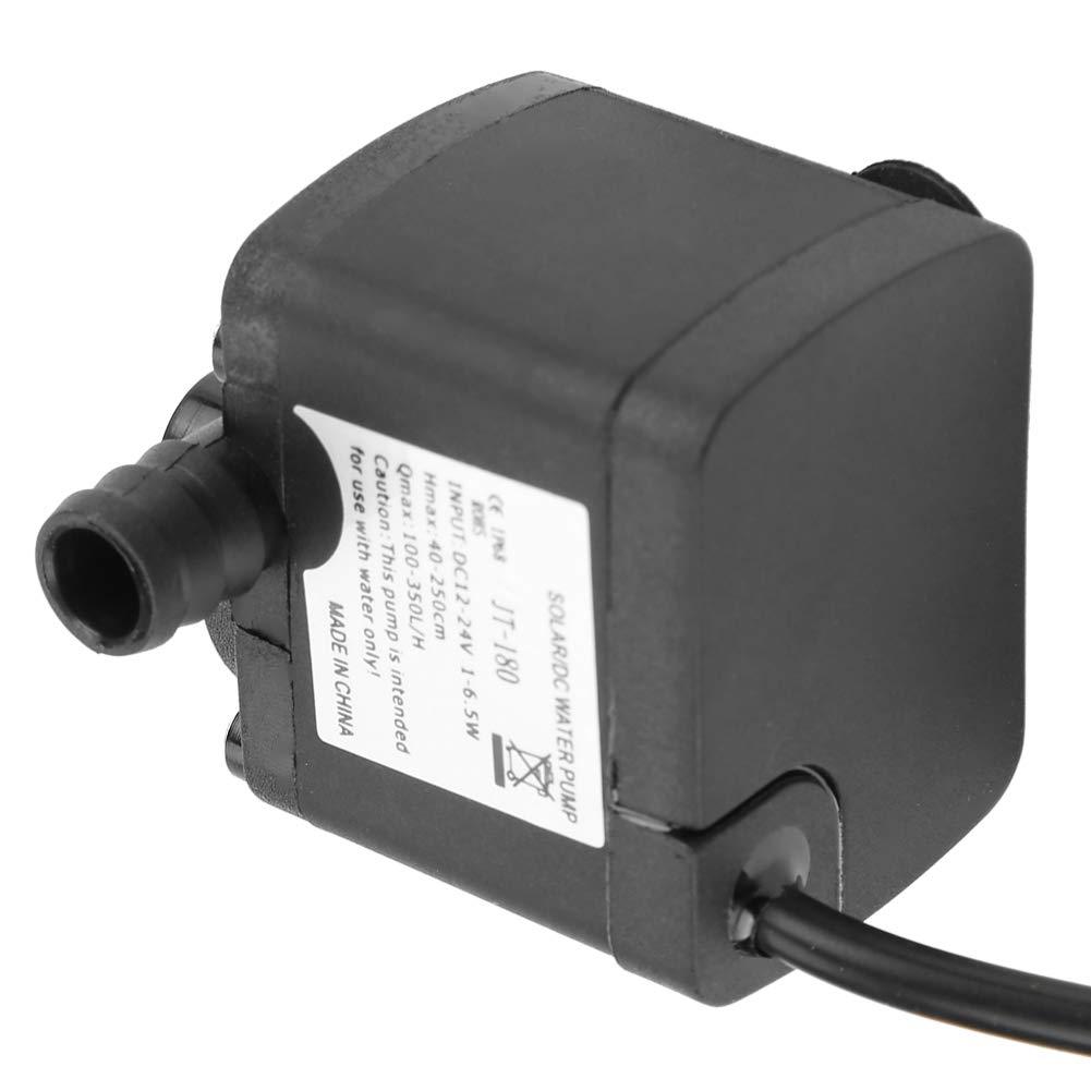 Mini bomba de agua, Mini DC Bomba de agua de bajo ruido sin escobillas para calentador de agua solar, tanque de peces DC 24V (-40 ℃ ~ 100 ℃): Amazon.es: ...