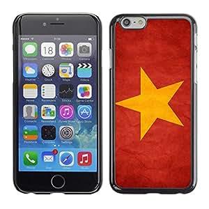 TopCaseStore / la caja del caucho duro de la cubierta de protección de la piel - Vietnam Grunge Flag - Apple iPhone 6
