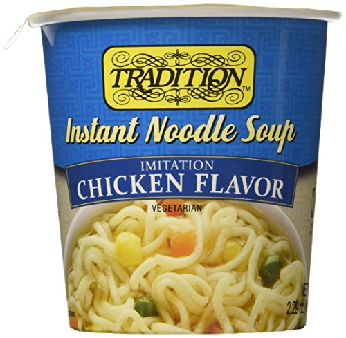 Tradition Imitation Chicken Flavor Instant Noodle Soup 2.29  (Pack of 12) (Soup Chicken Flavor Noodle)