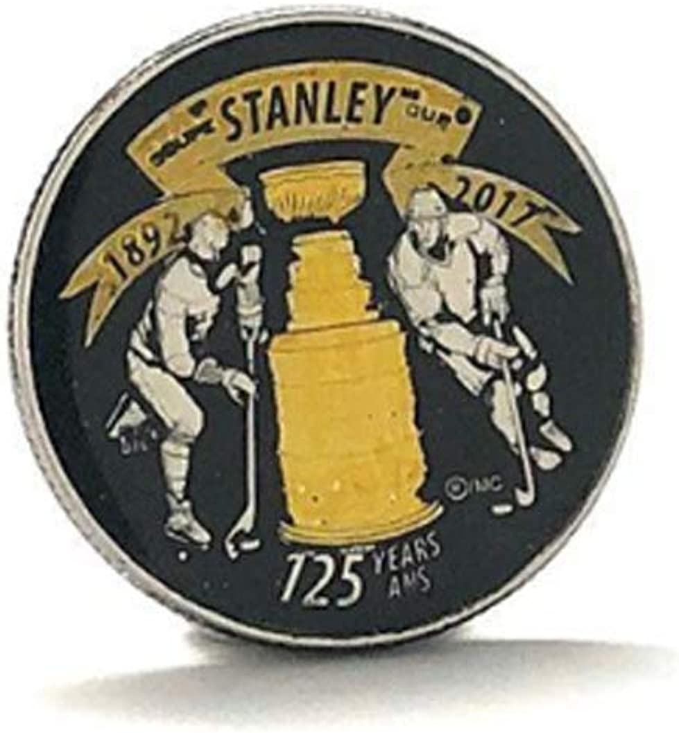 Williams and Clark Enamel Pin Gold Edition Stanley Cup Enamel Coin Collectors Lapel Pin Hockey Gifts Hand Painted Royal Canadian Mint Quarter