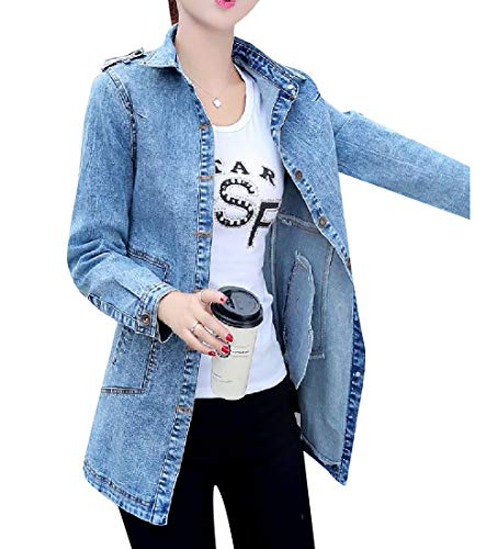 Trim Jacket Outwear Tops Howme Sleeve AS1 Long Fit Women Parka Trenchcoat WqfWPT0Et