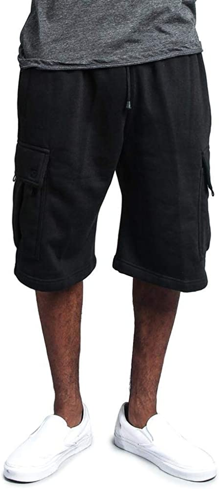 G-Style USA Men's Solid Fleece Heavyweight Cargo Shorts