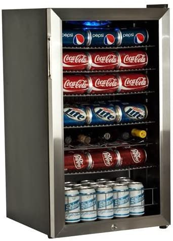 EdgeStar 103 Can and 5 Bottle Supreme Cold Beverage Cooler – Stainless Steel