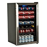 office beer cooler - EdgeStar BWC120SSLT 103 Can and 5 Bottle Freestanding Ultra Low Temp Beverage Cooler