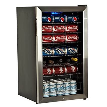 EdgeStar 103 Can and 5 Bottle Supreme Cold Beverage Cooler - Stainless Steel best under-counter beverage refrigerators