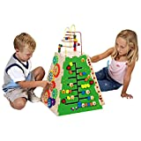 Top Selling Popular Child Kids Toddlers Pyramid Shape Power Learning Activity Play Center Toy Five Sided With Games Beads Marbles Roller Coaster Gears- Motor Visual Skills Development Play Fun For All
