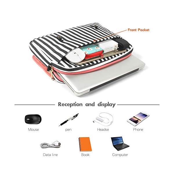 Kamlui-Laptop-Bag-156-Inch-for-WomenPU-Leather-Canvas-Shoulder-Messenger-Laptop-Tote-Bag-Briefcase-for-MacBook-Air-Dell-Lenovo-HP-Samsung-Laptop-Computer-Case